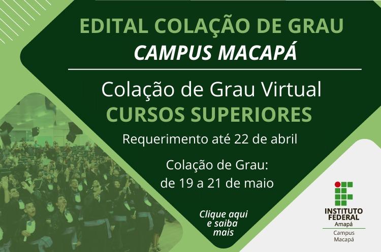 Campus publica edital de colação de grau virtual