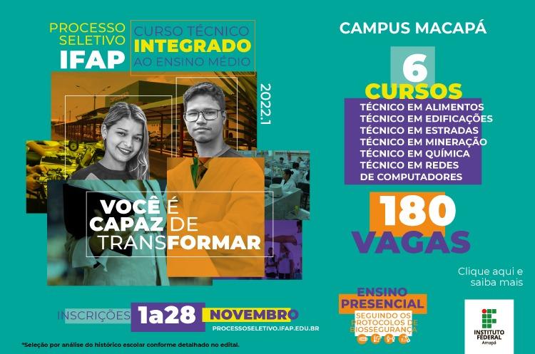 Ifap abre 400 vagas no ensino médio integrado