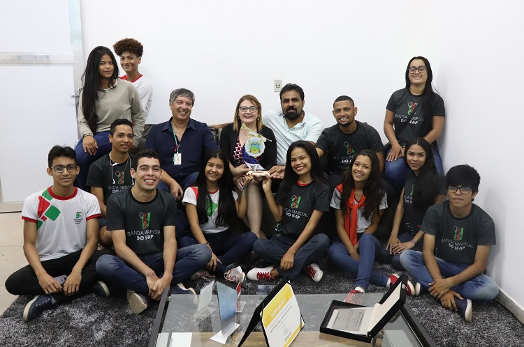 Banda Marcial ganha troféu em competição