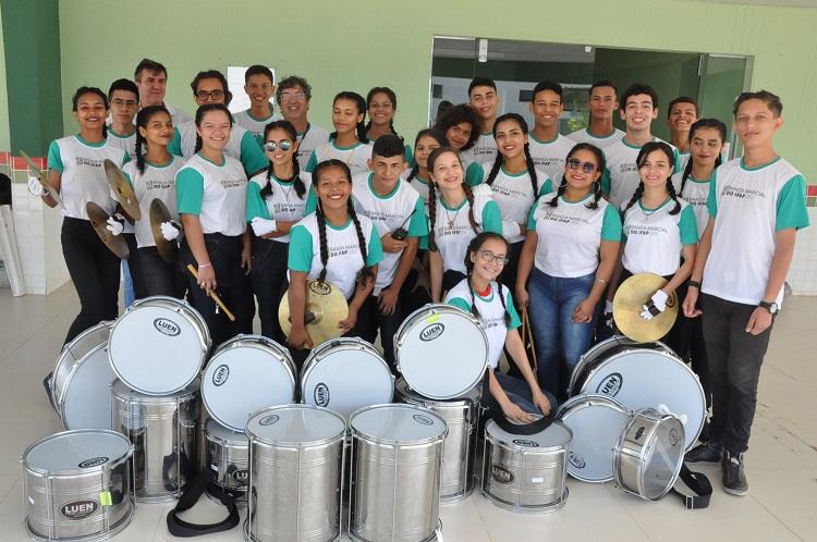 Banda Marcial se apresenta em desfiles cívicos